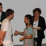 Thomas Pinetz erhält seine Medaille