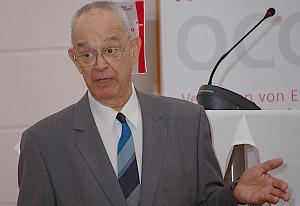 Veith Risak bei der Verleihung der OCG Ehrenmitgliedschaft