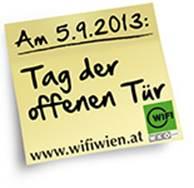 Post-it zum Tag der offenen Tür des WIFI Wien