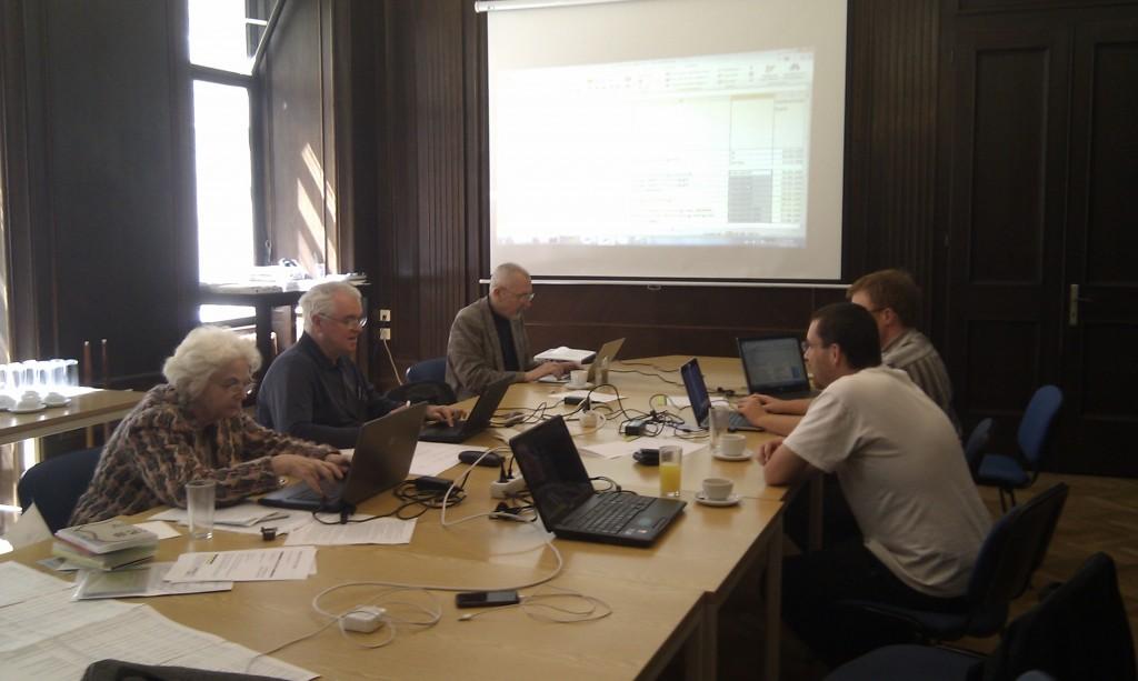 die Jury: DI Grimus, univ.Prof. Futschek, univ.Prof. Neuwirth, Dr. Wirth und Mag. Hitz