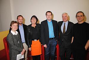 Paneldiskutanten: Gerti Kappel, Christof Tschohl, Ingrid Schaumüller Bichl, Gerald Futschek und Gerfried Stocker