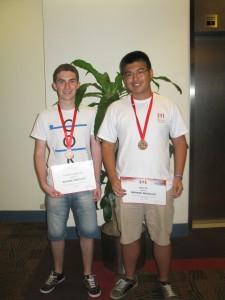 Florian Leimgruber und Gary Ye - unsere Medaillengewinner