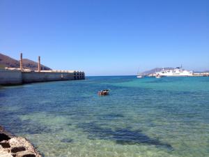 Favignana (Sizilien) und der Ort der Medical Imaging Summer School 2014 , Stabilimento Florio, eine ehemalige Thunfischfabrik (links im Bild)