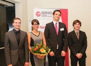 OCG Preisträger: R. Draschwandtner, L. Obritzberger, M. Steinberger, C. Freude
