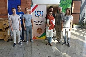 Das österreichische Team bei der Ankunft in Teheran