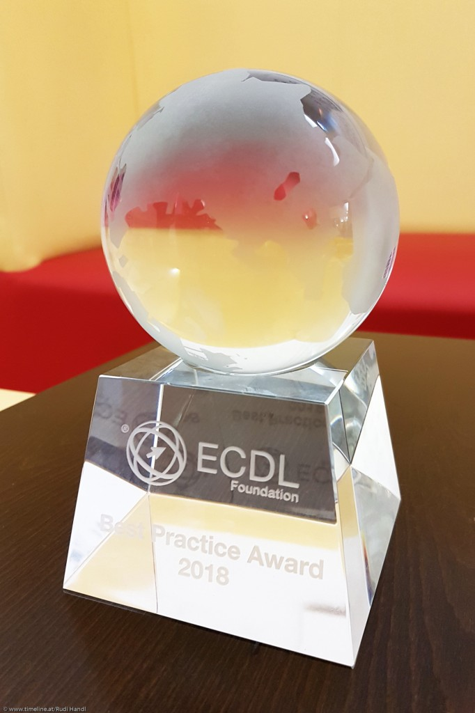 Internationaler Best Practice Award 2018 für ECDL in der Lehre