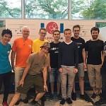 Das Team mit Besucher Wolfgang Thaller