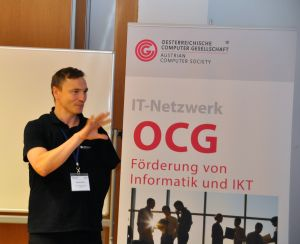 Eröffnung  der OCG Impulse durch Ronald Biber