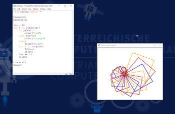 Kreative Grafik mit Python