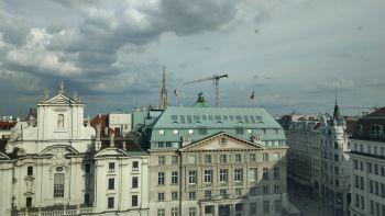 Blick vom Dachgeschoß der Verbund AG am Platz am Hof