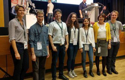 Young Reasearcher' Day 2019: B. Libmeck-Lilienau (SBA), Tobias Dam, Matthias Wenzl, Sabrina Buchegger, Katharina Pfeffer, I. Schaumüller-Bichl (FH OÖ, OCG), Tobias Höller