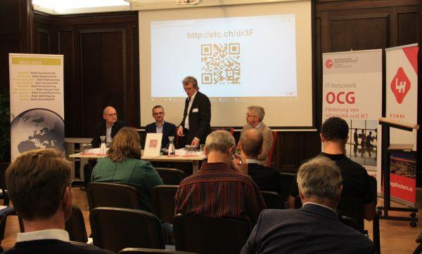Stefan Eder (BIRA), Bernhard Breunlich (lawyers & more),  Wolfgang Resch (OCG), Franz Kummer (weblaw)