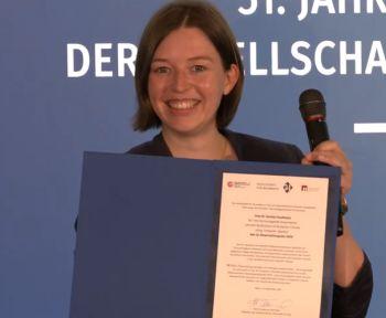 Daniela Kaufmann Screenshot von Preisverleihung bei GI-Jahrestagung